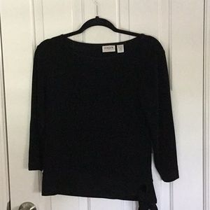 Chico's black knit top-Travelers